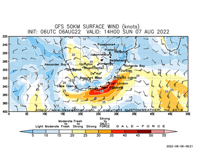 South Africa Wind Maps And Wind Forecasts
