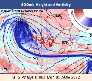 WXMAPS GFS Weather Forecasts Maps for South Africa SA